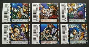 1996-New-Zealand-Christmas-Celebration-6v-Stamps-Mint-NH-barcode-tabs