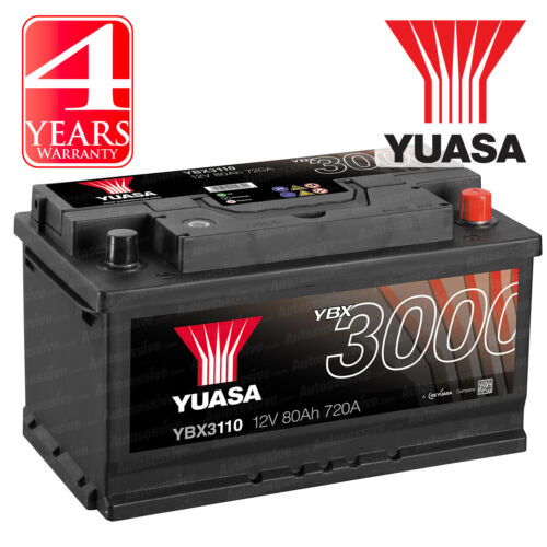 Yuasa Car Battery Calcium 12V 720CCA 80Ah T1 For Porsche 911 996 3.6 Turbo