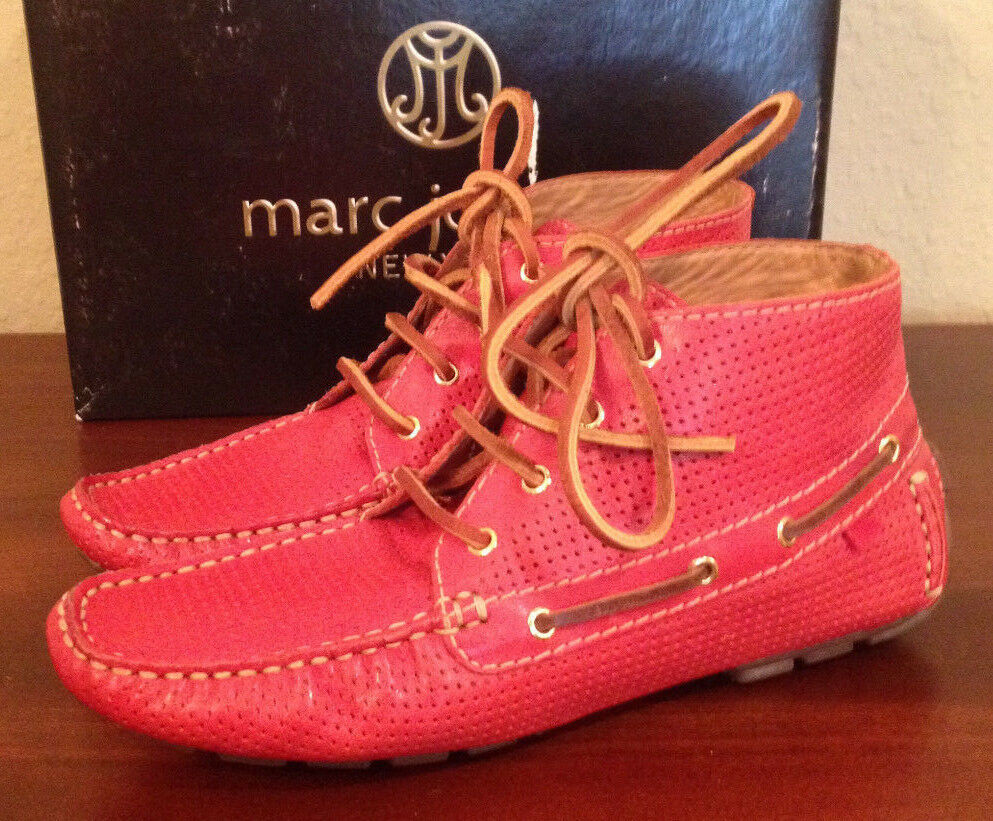 NIB Marc Joseph BROADWAY ROSSO Bootie Driver Moccasin Ankle Boots Donna 6.5 M