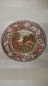 034-Rural-England-034-W-R-Midwinter-Ltd-Multi-color-7-034-Dessert-Plates-England