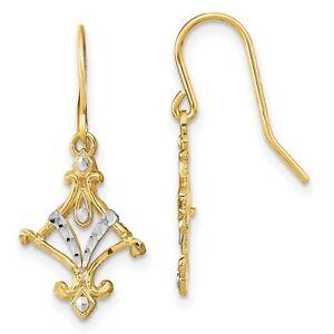Fancy-Dangle-Wire-Earrings-In-Real-14k-Yellow-Two-Tone-Gold-1-09gr