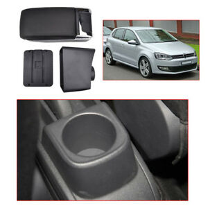 Black-Centre-Console-Armrest-For-VW-Polo-Mk5-Vento-2010-2017-Storage-Box-Car