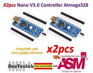 2pcs-Nano-V3-0-Controller-Board-Atmega328P-Compatible-Arduino-Nano-V3-CH340