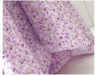 """By The Yard 44""""*36"""" Cotton Fabric 2 Colors GYPSOPHILA FLORAL Sewing Quilting"""