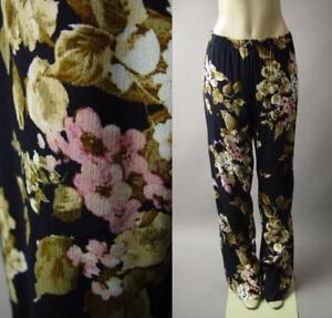 Plus-Dark-Moody-Floral-Pattern-Black-Wide-Leg-Palazzo-244-mv-Pants-1XL-2XL-3XL