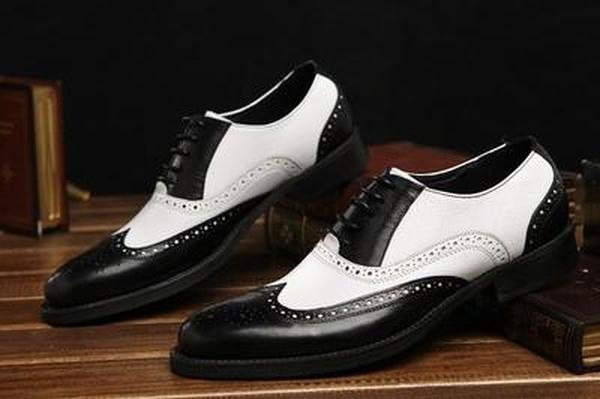 fino al 42% di sconto Handmade Uomo Two Two Two tone formal scarpe, Uomo Spectator scarpe Uomo dress leather scarpe  più sconto