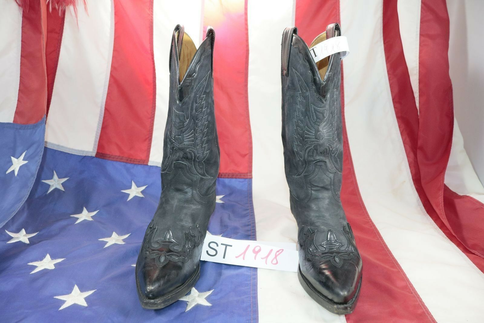 Stivali SENDRA (Cod. ST1918) USATO N.7 men Pelle black Cowboy Country original