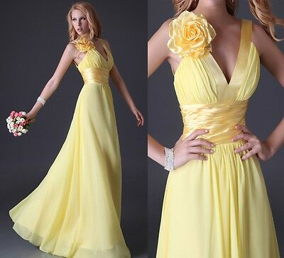 DISCOUNT~LONG Prom Party Bridesmaid Evening Graduation Wedding Ball Gown Dresses