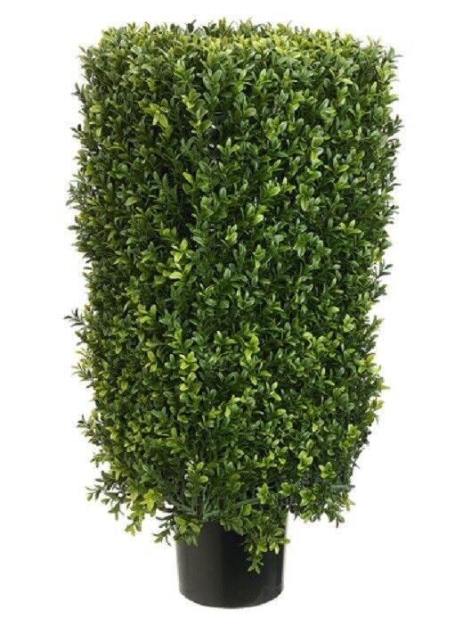 30  Rectangular Boxwood Artificial Topiary in Pot Tree plant Indoor Outdoor 232