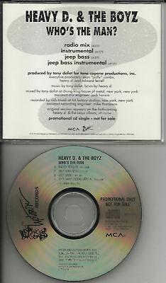 HEAVY D & THE BOYZ Who's Man 4TRX PROMO CD Instrumental | eBay