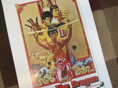 """11/"""" x 17/"""" Enter the Dragon T2 Movie Collector/'s Poster Print - B2G1F"""