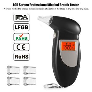 Digital-LCD-Alcohol-Breath-Analyzer-Breathalyzer-Tester-Detector-Test-Key-Chain