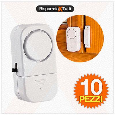 Intelligente 10 Sensori Per Porte E Finestre, Allarme Acustico Per Casa Ed Ufficio Antifurto In Molti Stili