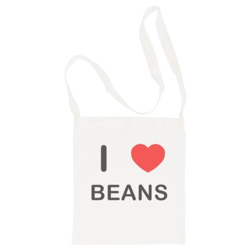 Cotton BagSize choice Tote I Love Beans Shopper or Sling