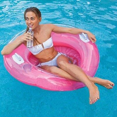 Genuine Intex Inflatable Pool Lounge Chair Candy Colour Inflatable 102cm Large