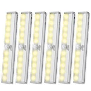 3*LED PIR Infrared Motion Sensor Wireless Night Light Battery Cabinet Stair Lamp