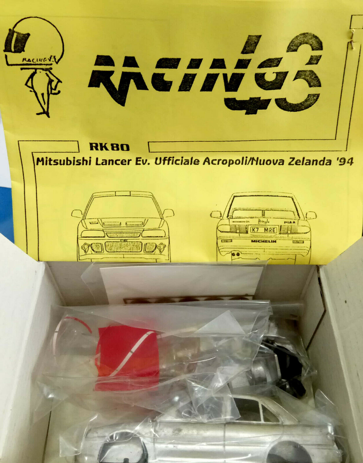 RACING 43 1 43 MITSUBISHI LANCER EVOLUTION METAL.KIT LIMITED EDITION  RK80