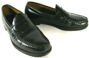 G-H-Bass-Men-039-s-Penny-Loafers-Shoes-Black-Leather-Weejuns-10-5M-VTG-90s