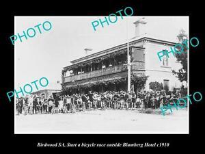OLD-LARGE-HISTORIC-PHOTO-OF-BIRDWOOD-SOUTH-AUSTRALIA-BICYCLE-RACE-AT-HOTEL-1910