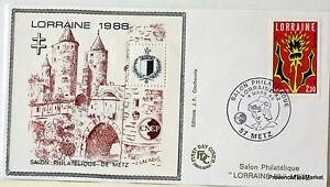 FRANCE-BLOC-FEUILLET-CNEP-SUR-LETTRE-LORRAINE-1988-N-9-FDC