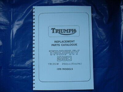 Triumph Tr25w Parts Book For 1970 Models