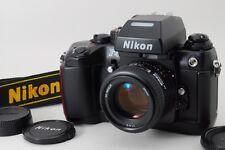 【NEAR MINT】Nikon F4 35mm SLR Film Camera w/ AF 50mm F1.4D Strap From Japan #500