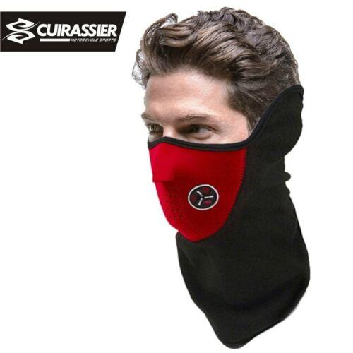 BLACK Cuirassier Motorcycle Electric wheel bike TOP Face Half Mask Neoprene Neck