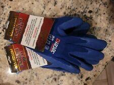 3 Pair Diesel Blue Heavy Duty Safety Gloves Latex Coated Grip