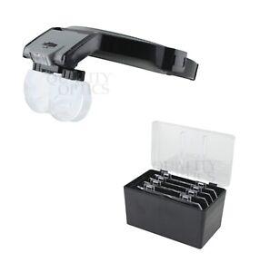 Quality-Optics-Illuminated-Headband-Magnifier-Jewelers-Head-Visor-Magnifying