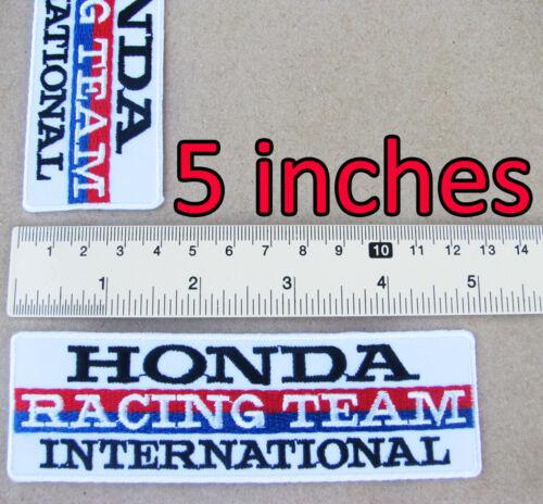 HONDA RACING TEAM International Advertising Iron on Patch MotoGP Motorcycle HRC