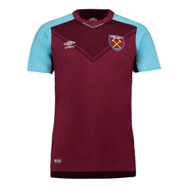 7e24230ff76 Umbro West Ham United Junior Kids Home Kit Football Shirt Top ...