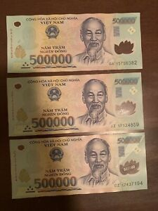 500,000 Vietnamese Dong Banknote VND Uncirculated Vietnam