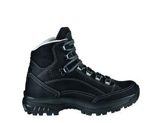 hanwag-Zapatos-de-montana-CANYON-Hombre-Cuero-Tamano-12-47-NEGRO
