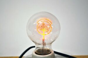 VINTAGE | LUXRAM CHARM LIGHT SAGITTARIUS ZODIAC FIGURE FILAMENT LIGHTBULB W/BOX