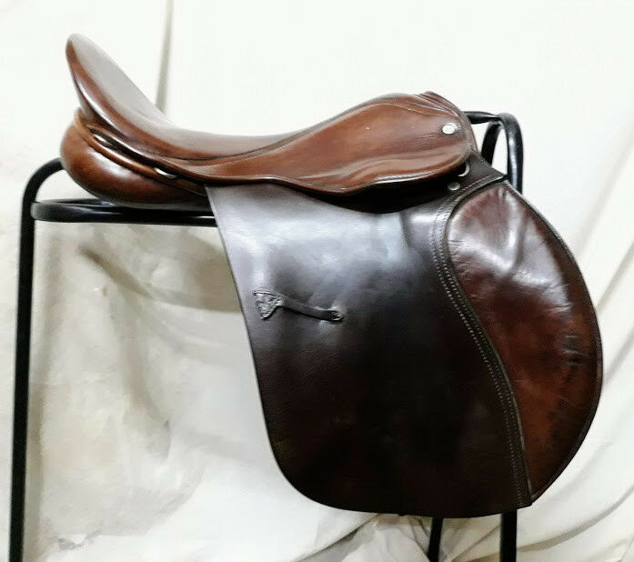 17.5  marrón Leather English Made Falcon Hawk Event Event Saddle