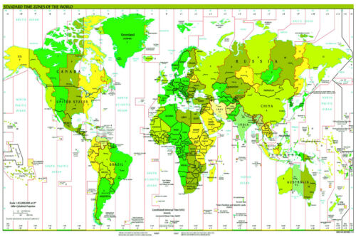 A2 size gloss laminated world map poster standard time zones resntentobalflowflowcomponenttechnicalissues gumiabroncs Choice Image