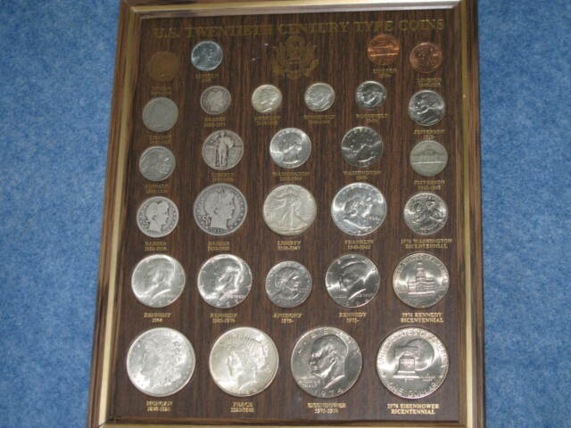 1897-1994 US Twentieth Century Type Coins collection 29 coins 14 silver B8944