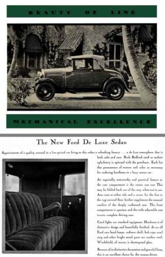 Ford Model A 1930 Mechanical Excellence Beauty of Line
