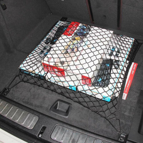 Universal 4 Hook Rear Trunk CARGO NET Car Nylon Elastic Mesh Organizer Truck SUV