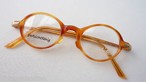 Brillenfassungen Kleine Brillen 40-20 Rund Panto Hornoptik Honig Besonderes Plastikgestell Gr.s Dauerhafte Modellierung