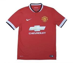 Manchester United 2014-15 ORIGINALE Maglietta (OTTIMO) M SOCCER JERSEY