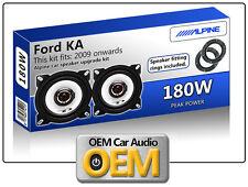"Ford KA Rear Panel speakers Alpine 10cm 4"" car speaker kit 180W Max"