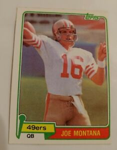 1981 Topps Joe Montana rookie football  RC card San Francisco 49ers #216 NM