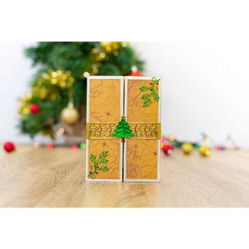 Stanzschablone Tannenbaum Verschlußstreifen Weihnachten Hochzeit Geburtstag Deko