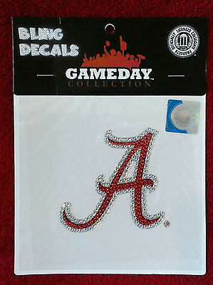 NWT University of Alabama bling decal,sequins,emblem,removable,mirrors,windows