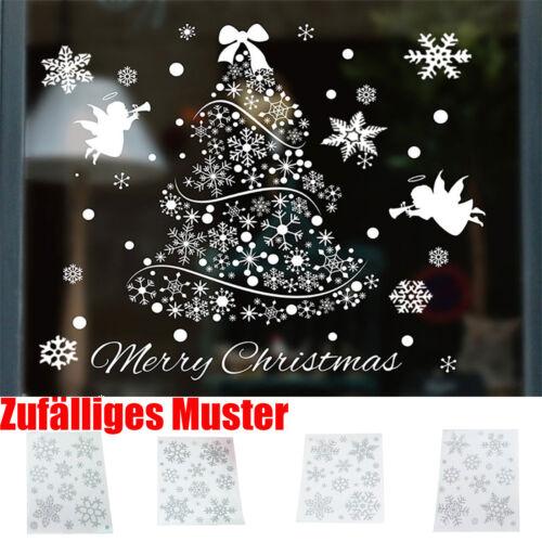 Wiederverwendbare Weihnachten Fenster Schneeflocke haftet Aufkleber Decal Decor