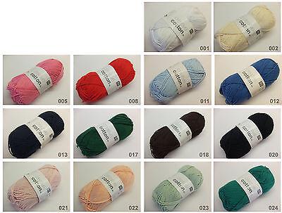 Rico Essentials Cotton Soft Print DK Sommergarn Wolle Baumwolle 3,40 EUR//100 g