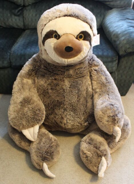 Jumbo Sloth Plush Over 4 Ft Tall X Large Xl Valentines Stuffed