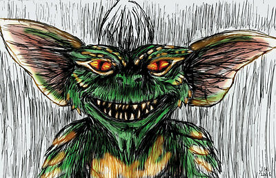"The Gremlins Stripe /""Stripe Wants Yum Yum/"" 11 x 17 High Quality Poster"