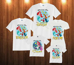 Image Is Loading Personalized Custom The Little Mermaid Ariel Birthday T